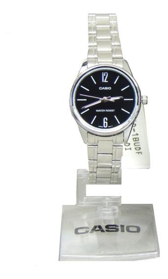 Relógio Casio Feminino Ltp-v005d-1budf - Lançamento - Nf