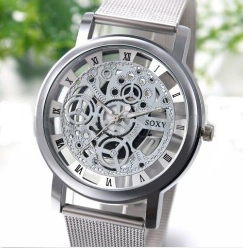 Relógio De Pulso Esqueleto Analógico Quartzo-promoção