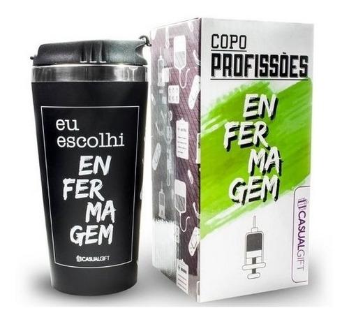 Imagem 1 de 2 de Copo Térmico Profissões Café Chá Capuccino Enfermagem 450ml