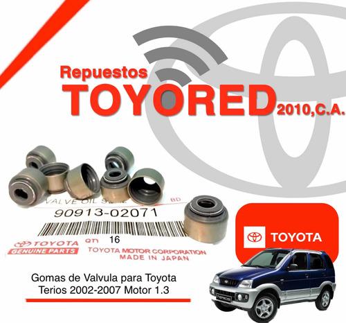 Gomas De Valvula Para Toyota Terios Año 02 Al 07 1.3 Origina