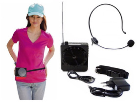 Amplificador De Voz Portátil Megaphone Kit Professor Preto