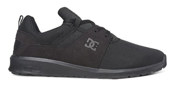 Tenis Hombre Heathrow Adys700071 3bk Negro Dc Shoes