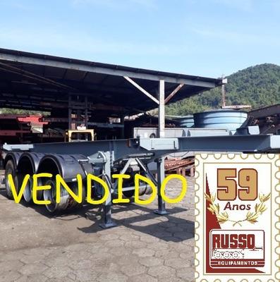 Vendido !carreta Porta Container 20 Pés 3 Eixos 08/09 Randon