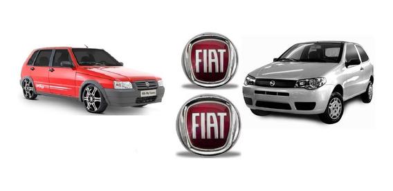 Kit Emblema Fiat Grade Mala Uno 2008 Palio 2008/..g3 +brind