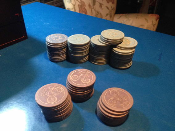 Fichas Ficha Para Jogar Jogo Baralho Poker Antigas Antique