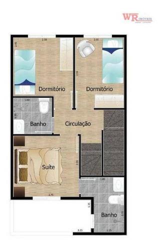 Sobrado À Venda, 143 M² Por R$ 476.000,00 - Vila Curuçá - Santo André/sp - So0862