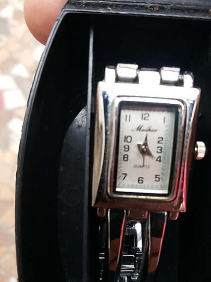 Relógio Feminino De Pulso Quartz Stainless Back Steel 7387