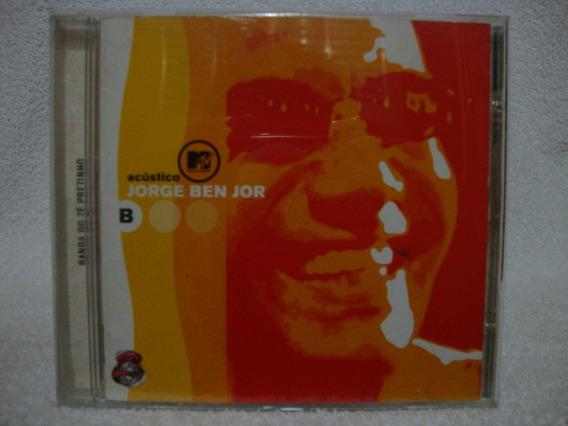 Cd Original Jorge Ben Jor- Acústico Mtv- Banda Zé Pretinho