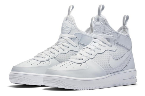 Tênis Nike Air Force 1 Mid Ultraforce Platinum -100% Orginal