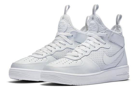 Tênis Nike Air Force 1 Mid Ultraforce Platinum -100% Orginal