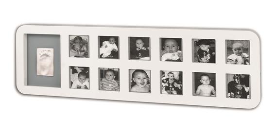Kit Decorativo My First Year Baby Art White & Grey
