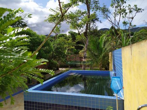 Imagem 1 de 11 de Chácara Com 3 Dormitórios À Venda, 1200 M² Por R$ 339.000 - Caibura - Bertioga/sp - Ch0614
