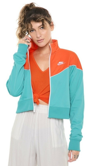 Sudadera Nike Track Jaket Heritage Moda Mujer Clásica Og Ms