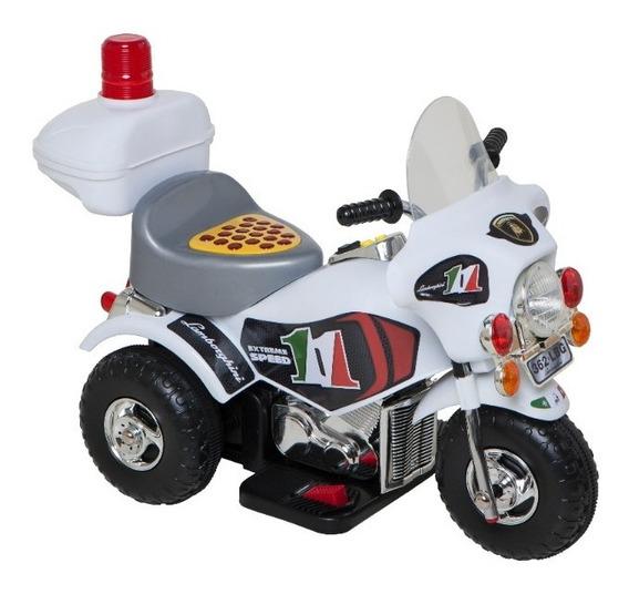 Moto 6v A Bateria Niños Policía Lamborghini Dencar @ Mca