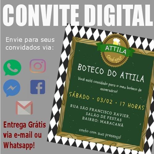 Imagem 1 de 1 de Convite Digital Festa Boteco Arte P/ Whatsapp Face