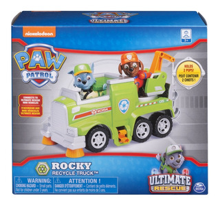 Paw Patrol - Rocky - Vehiculo - Reciclador - Ultimate Rescue