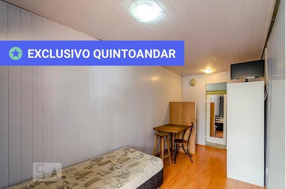 Studio Térreo Mobiliado Com 1 Dormitório E 1 Garagem - Id: 892970536 - 270536