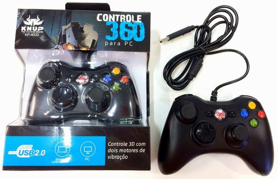 Kit Com 6 - Controle Modelo Xbox 360 Com Fio Para Pc E Note