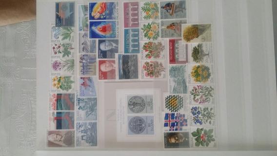 Sellos Mint Islandia Inicios 1966 A 1985 Años Completos