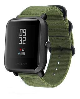 Pulseira Militar De Nylon Xiaomi Amazfit Bip Verde
