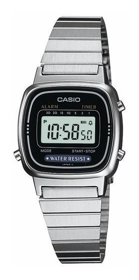 Relógio Casio Feminino Vintage La670wa-1df Mini Com Caixa