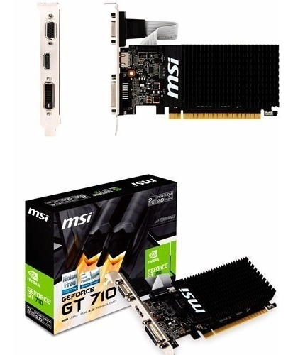 Tarjeta De Video Nvidia Geforce Gt 710 1gb Ddr3 Pci-e Hdmi