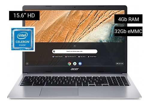 Chromebook Acer Dualcore 4gb 32gb Emmc 15.6 Hd Chromeos Nnet