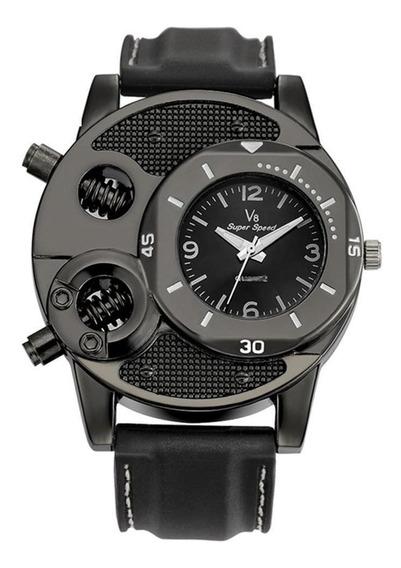 Relógio De Pulso Homens Relógio De Quartzo Casual Silicone