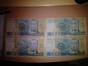 Cédulas 100 Mil Cruzeiros Juscelino Kubitschek 3 Bc 1 R