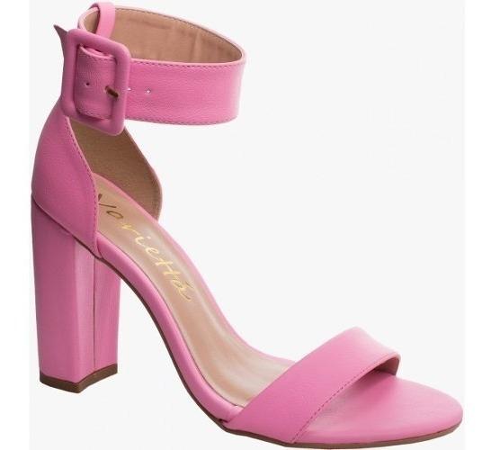 Sandália Salto Alto Grosso Pink