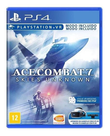 Ace Combat 7 Skies Ps4 Simulador Avião Física Português