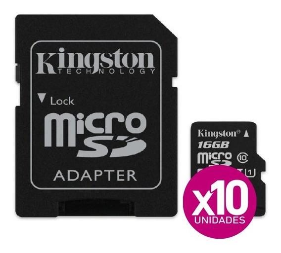 Tarjeta De Memoria Kingston 16gb Clase 10, X10 Unidades