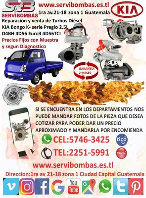 Venta De Turbos Kia Bongo K- Serie Pregio 2.5l D4bh,4d56