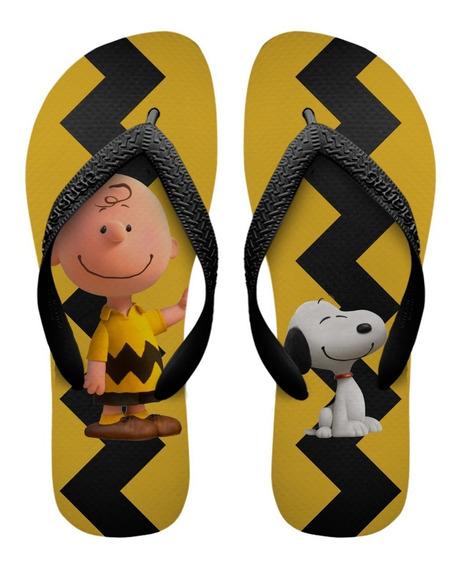 Chinelos Havaianas Personalizados Snoopy E Charlie Brown [2]