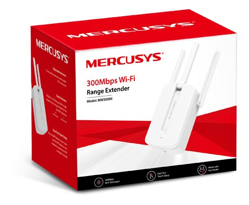 Repetidor Mercusys Mw300re 300mbps 2.4ghz