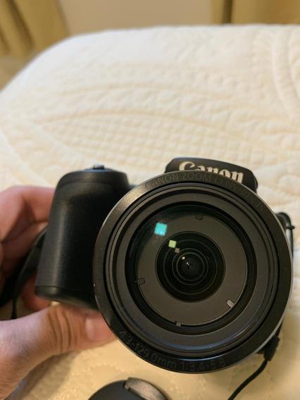 Câmera Canon Powershot Sx400is 16mp + Sd 64gb + 2 Baterias