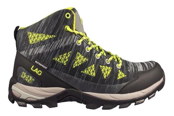 Botín Outdooor Waterproof Gris/yellow 3fb0919 (39 Al 44) Lag