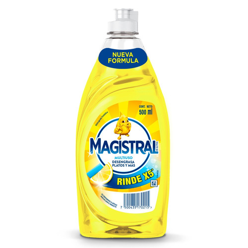 Detergente Magistral Multiuso Limón sintético en botella 500ml