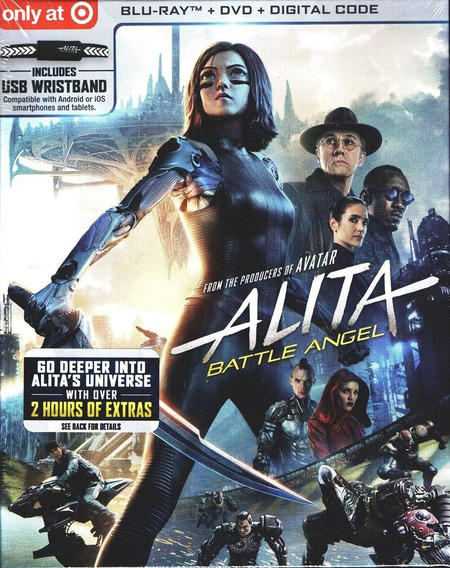 Alita Battle Angel Target Pelicula Blu-ray + Dvd + Usb