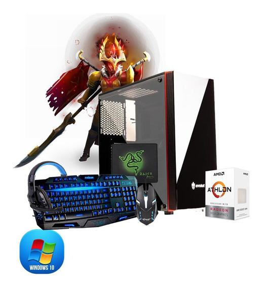 Pc Gamer Amd Athlon 200ge, 2x4gb, Hd 500gb E Kit Gamer