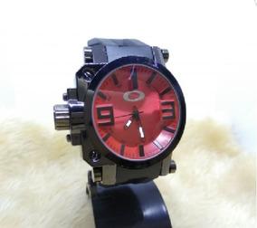 Relógio Masculino De Pulso Oakley Barato Promoção Vermelho