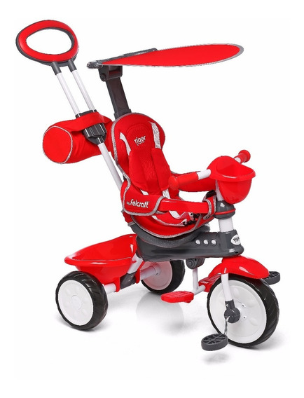 Triciclos Infantiles Bebe Techo Manija Bolso Canasto Classic