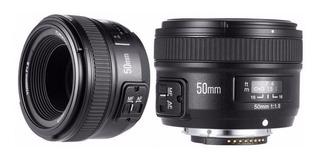 Lente Yongnuo 50mm Nikon F/1.8 Af Mf Fijo