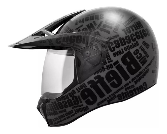 Capacete Bieffe 3 Sport Mirror - Preto Fosco