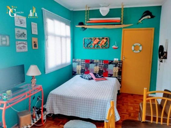 Kitnet Com 1 Dormitório À Venda, 30 M² Por R$ 115.000,00 - Aviação - Praia Grande/sp - Kn0301