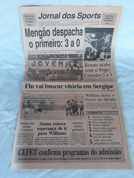 Jornal Dos Sports Flamengo 3x0 Campo Grande 4-09-1992