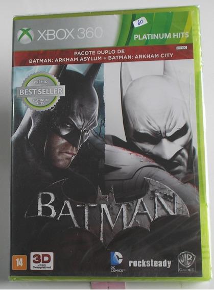 Batman Arkhan Asylum + Arkhan City Xbox 360 Original Lacrado