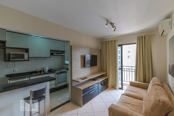 Apartamento No 10º Andar Mobiliado Com 1 Dormitório E 1 Garagem - Id: 892954239 - 254239