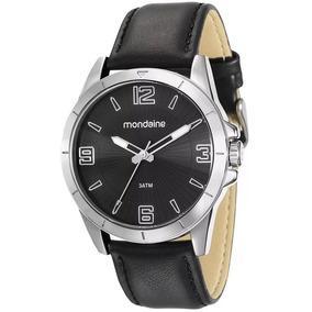 Relógio Mondaine Masculino 76668g0mvnh2 Pulseira De Couro