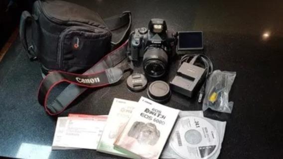 Câmera Canon T3i + Lente 18-55mm + Bolsa